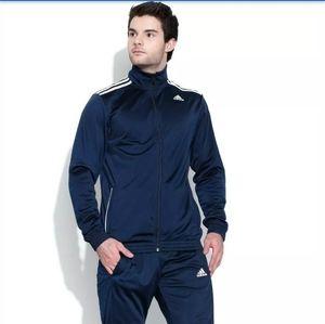 NWT Adidas TS Entry Navy Blue Jacket Medium
